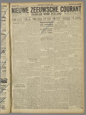 Nieuwe Zeeuwsche Courant 1921-10-24