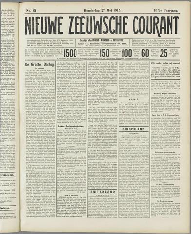 Nieuwe Zeeuwsche Courant 1915-05-27