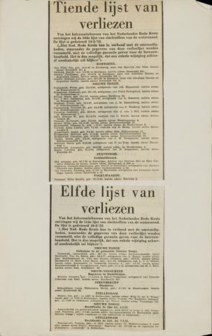 Watersnood documentatie 1953 - krantenknipsels 1953-01-01