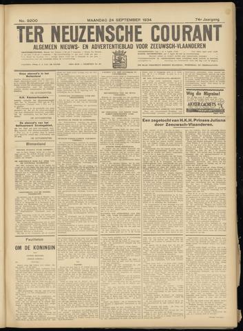 Ter Neuzensche Courant. Algemeen Nieuws- en Advertentieblad voor Zeeuwsch-Vlaanderen / Neuzensche Courant ... (idem) / (Algemeen) nieuws en advertentieblad voor Zeeuwsch-Vlaanderen 1934-09-24