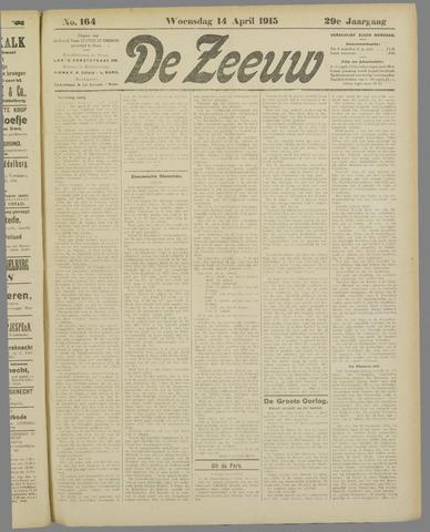 De Zeeuw. Christelijk-historisch nieuwsblad voor Zeeland 1915-04-14