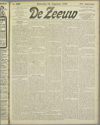 De Zeeuw. Christelijk-historisch nieuwsblad voor Zeeland 1920-08-14