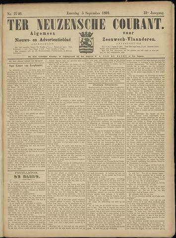 Ter Neuzensche Courant. Algemeen Nieuws- en Advertentieblad voor Zeeuwsch-Vlaanderen / Neuzensche Courant ... (idem) / (Algemeen) nieuws en advertentieblad voor Zeeuwsch-Vlaanderen 1891-09-05