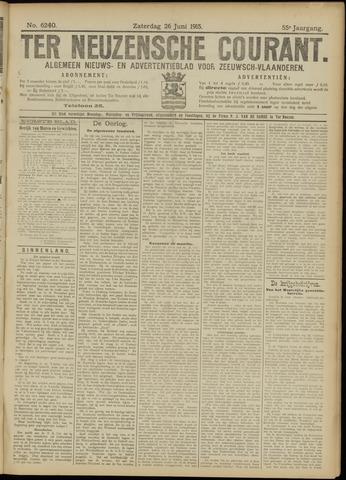 Ter Neuzensche Courant. Algemeen Nieuws- en Advertentieblad voor Zeeuwsch-Vlaanderen / Neuzensche Courant ... (idem) / (Algemeen) nieuws en advertentieblad voor Zeeuwsch-Vlaanderen 1915-06-26