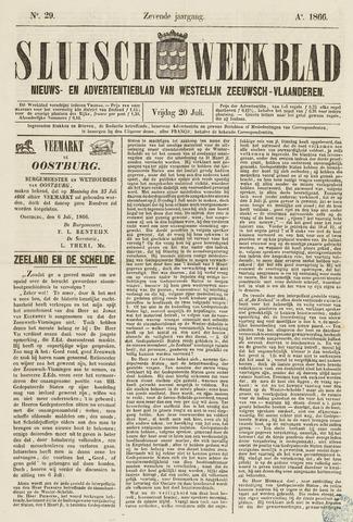 Sluisch Weekblad. Nieuws- en advertentieblad voor Westelijk Zeeuwsch-Vlaanderen 1866-07-20