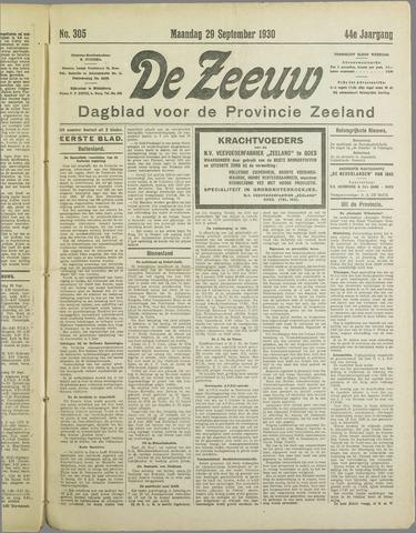De Zeeuw. Christelijk-historisch nieuwsblad voor Zeeland 1930-09-29