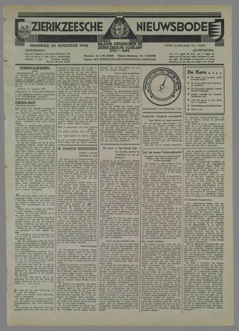 Zierikzeesche Nieuwsbode 1936-08-24