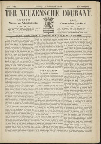 Ter Neuzensche Courant. Algemeen Nieuws- en Advertentieblad voor Zeeuwsch-Vlaanderen / Neuzensche Courant ... (idem) / (Algemeen) nieuws en advertentieblad voor Zeeuwsch-Vlaanderen 1880-12-11