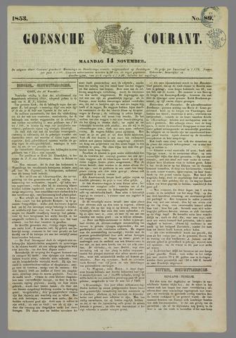 Goessche Courant 1853-11-14