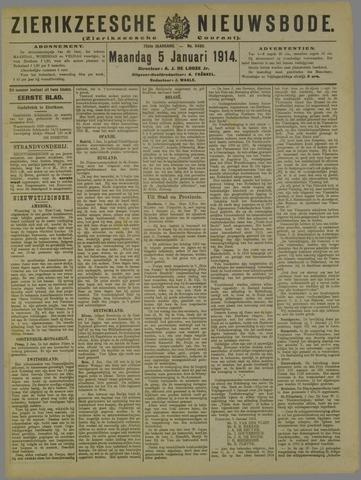 Zierikzeesche Nieuwsbode 1914-01-05