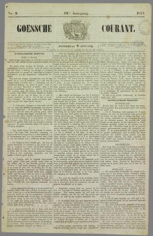 Goessche Courant 1857-01-08