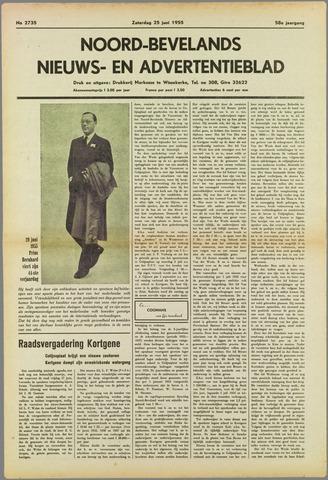 Noord-Bevelands Nieuws- en advertentieblad 1955-06-25