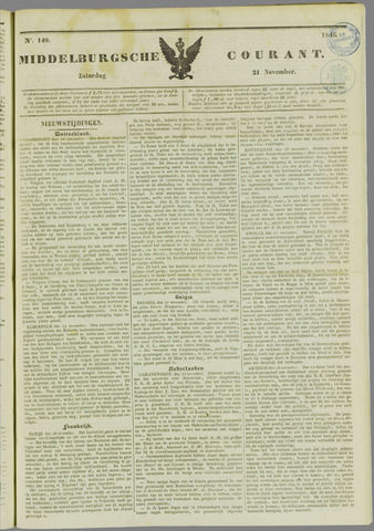 Middelburgsche Courant 1846-11-21