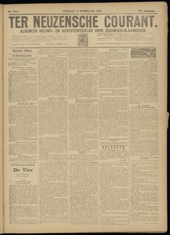 Ter Neuzensche Courant. Algemeen Nieuws- en Advertentieblad voor Zeeuwsch-Vlaanderen / Neuzensche Courant ... (idem) / (Algemeen) nieuws en advertentieblad voor Zeeuwsch-Vlaanderen 1933-02-17