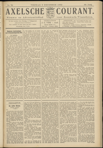 Axelsche Courant 1932-12-09