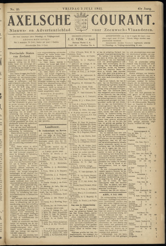 Axelsche Courant 1925-07-03