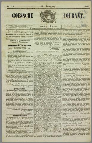 Goessche Courant 1856-07-14
