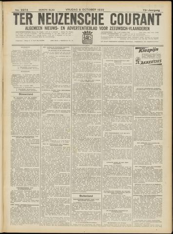 Ter Neuzensche Courant. Algemeen Nieuws- en Advertentieblad voor Zeeuwsch-Vlaanderen / Neuzensche Courant ... (idem) / (Algemeen) nieuws en advertentieblad voor Zeeuwsch-Vlaanderen 1939-10-06