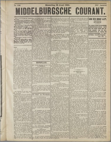 Middelburgsche Courant 1921-06-13