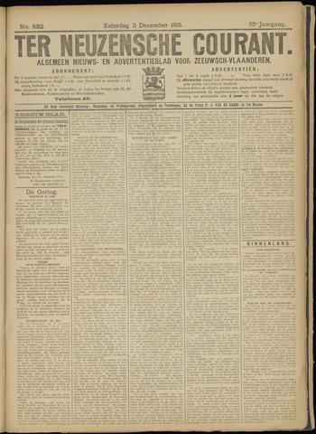 Ter Neuzensche Courant. Algemeen Nieuws- en Advertentieblad voor Zeeuwsch-Vlaanderen / Neuzensche Courant ... (idem) / (Algemeen) nieuws en advertentieblad voor Zeeuwsch-Vlaanderen 1915-12-11