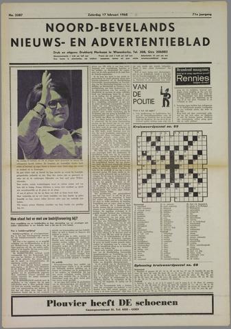 Noord-Bevelands Nieuws- en advertentieblad 1968-02-17