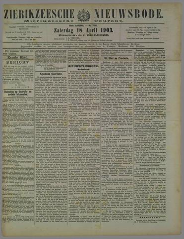 Zierikzeesche Nieuwsbode 1903-04-18