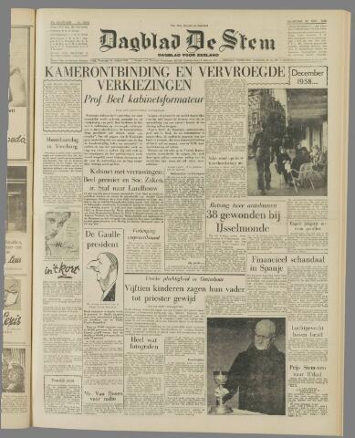 de Stem 1958-12-22
