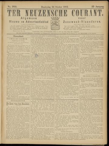 Ter Neuzensche Courant. Algemeen Nieuws- en Advertentieblad voor Zeeuwsch-Vlaanderen / Neuzensche Courant ... (idem) / (Algemeen) nieuws en advertentieblad voor Zeeuwsch-Vlaanderen 1912-10-24