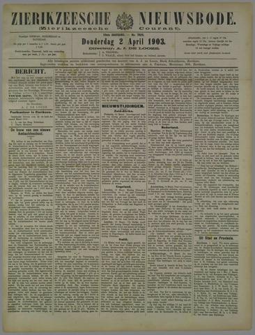 Zierikzeesche Nieuwsbode 1903-04-02