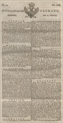 Middelburgsche Courant 1768-02-25