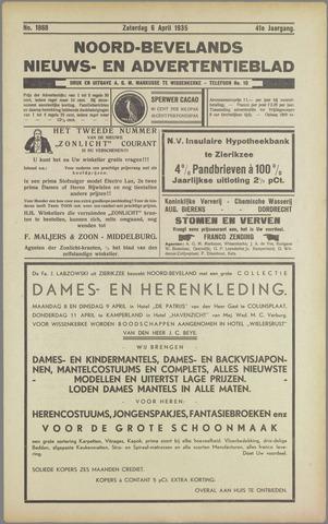 Noord-Bevelands Nieuws- en advertentieblad 1935-04-06