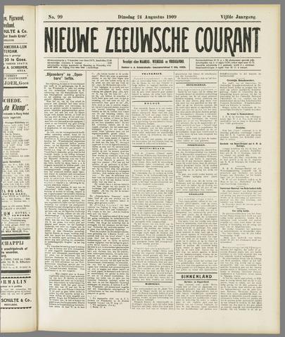 Nieuwe Zeeuwsche Courant 1909-08-24