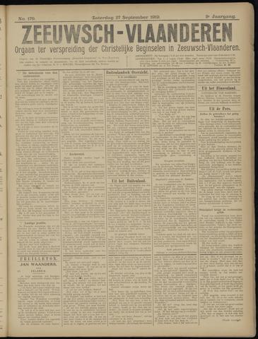 Luctor et Emergo. Antirevolutionair nieuws- en advertentieblad voor Zeeland / Zeeuwsch-Vlaanderen. Orgaan ter verspreiding van de christelijke beginselen in Zeeuwsch-Vlaanderen 1919-09-27