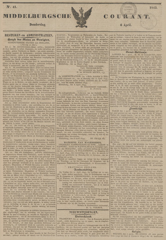 Middelburgsche Courant 1843-04-06