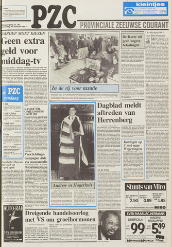 Provinciale Zeeuwse Courant 1987-02-12