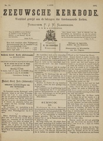 Zeeuwsche kerkbode, weekblad gewijd aan de belangen der gereformeerde kerken/ Zeeuwsch kerkblad 1887-06-04