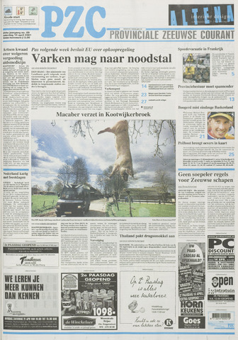 Provinciale Zeeuwse Courant 2001-04-14