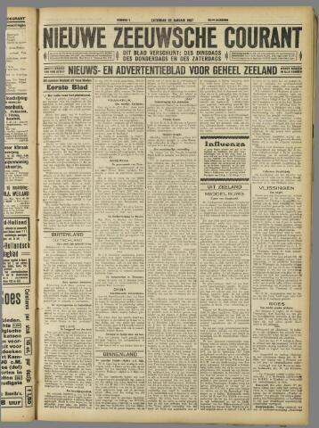 Nieuwe Zeeuwsche Courant 1927-01-22