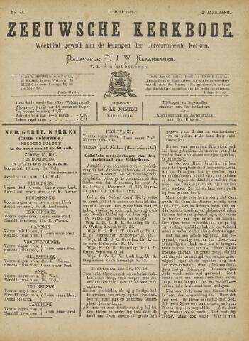 Zeeuwsche kerkbode, weekblad gewijd aan de belangen der gereformeerde kerken/ Zeeuwsch kerkblad 1888-07-14