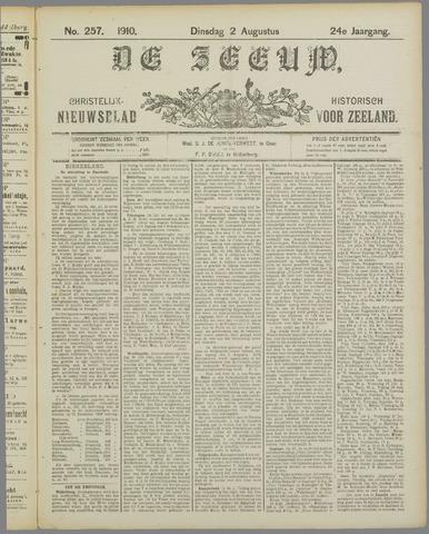 De Zeeuw. Christelijk-historisch nieuwsblad voor Zeeland 1910-08-02