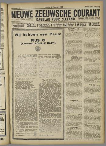 Nieuwe Zeeuwsche Courant 1922-02-07