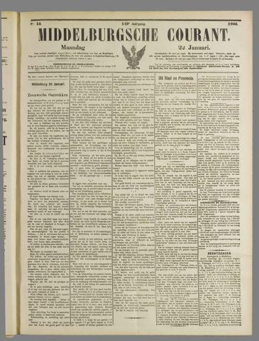 Middelburgsche Courant 1906-01-22