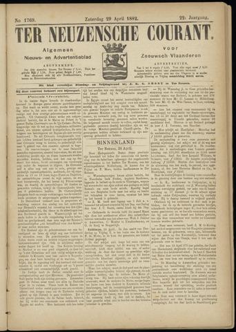 Ter Neuzensche Courant. Algemeen Nieuws- en Advertentieblad voor Zeeuwsch-Vlaanderen / Neuzensche Courant ... (idem) / (Algemeen) nieuws en advertentieblad voor Zeeuwsch-Vlaanderen 1882-04-29
