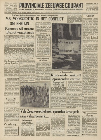 Provinciale Zeeuwse Courant 1961-08-17