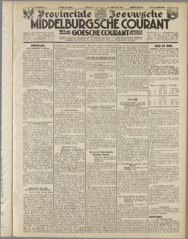 Middelburgsche Courant 1936-01-14