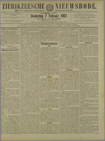 Zierikzeesche Nieuwsbode 1907-02-07
