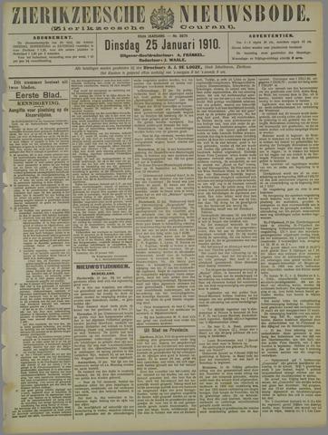 Zierikzeesche Nieuwsbode 1910-01-25