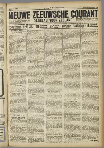 Nieuwe Zeeuwsche Courant 1922-11-17