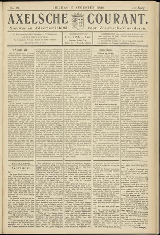 Axelsche Courant 1928-08-17