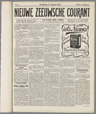 Nieuwe Zeeuwsche Courant 1912-01-11